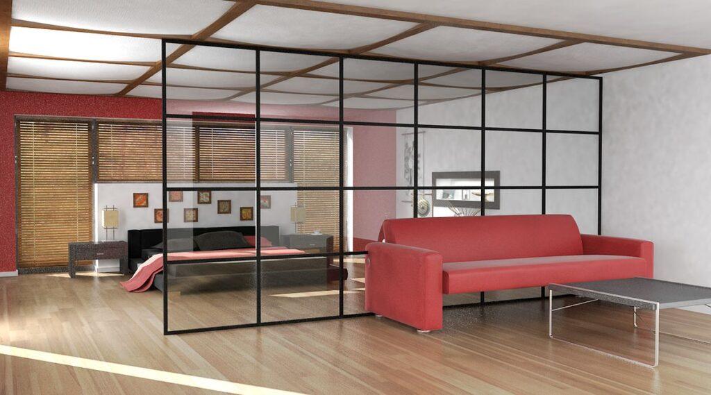 Ścianka działowa typu loft